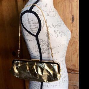 ❤️SALE❤️ GIANI BERNINI Gold Leather Clutch Bag